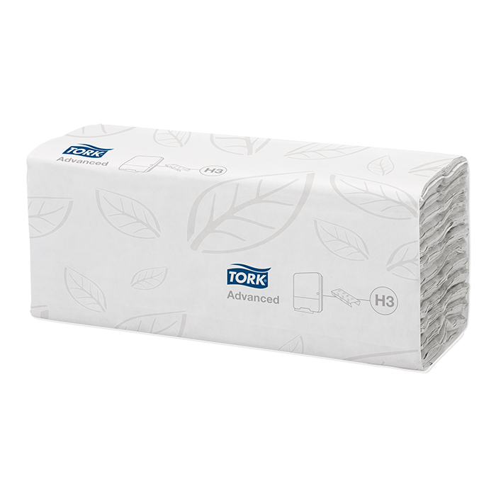Tork folded paper towels, quire-folded