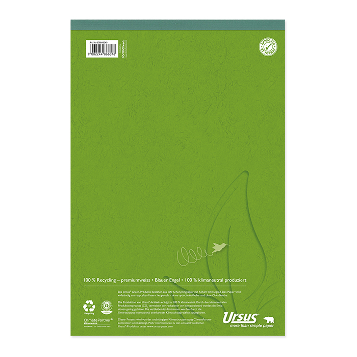 Ursus Green Notizblock Recycling