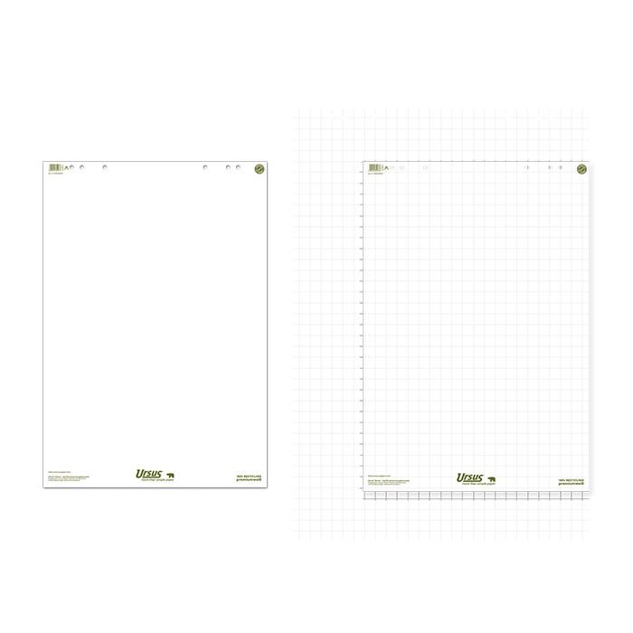 Ursus Green flip chart recycled pad
