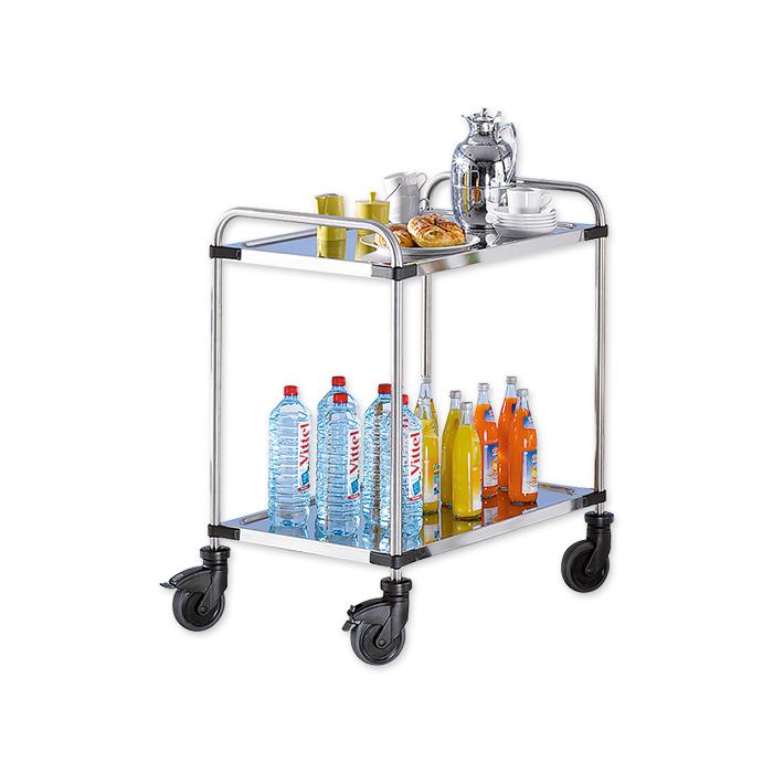 Varithek servo + stainless steel table trolley with 2 shelves