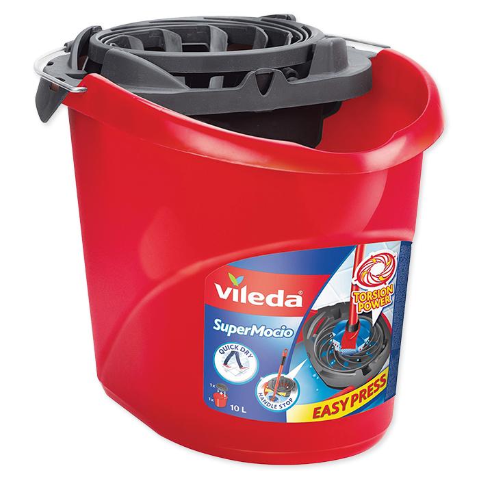 Vileda mop bucket SuperMocio 15 l, red