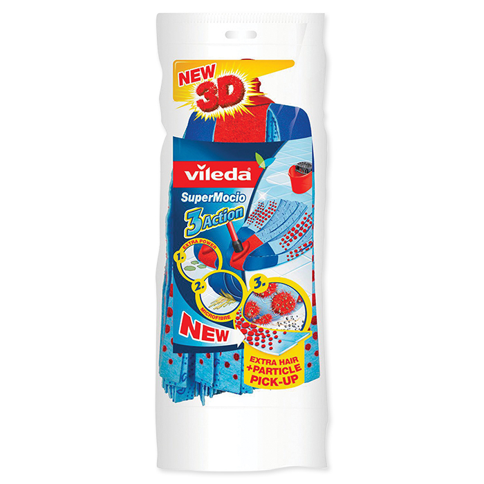 Vileda Ersatztuch SuperMocio Velour blau