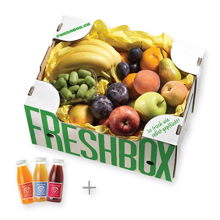 Yellow Box with juices
