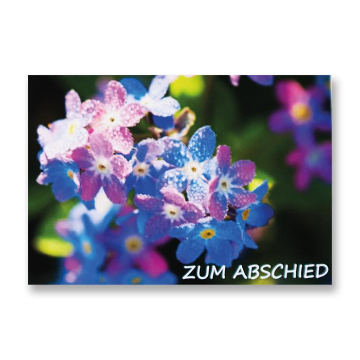 art bula Abschiedskarte - Blumen