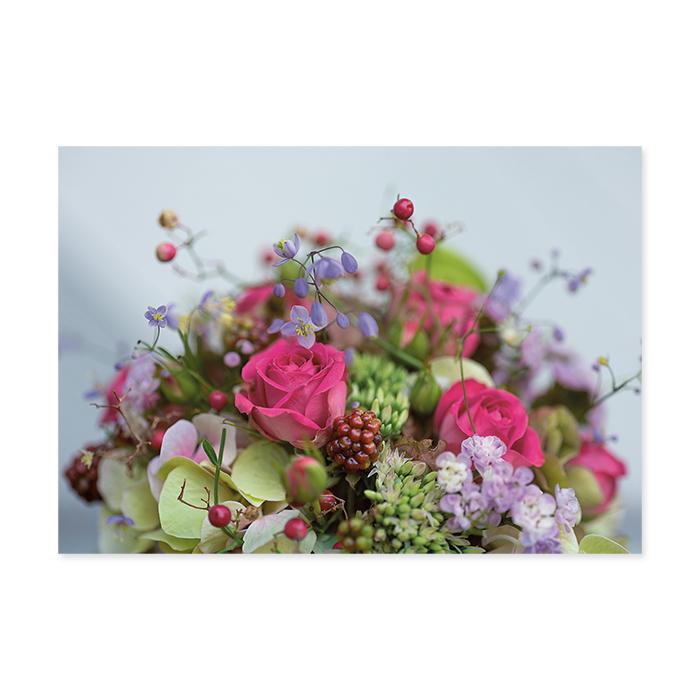 art bula Blancokarte - Blumenstraus pink