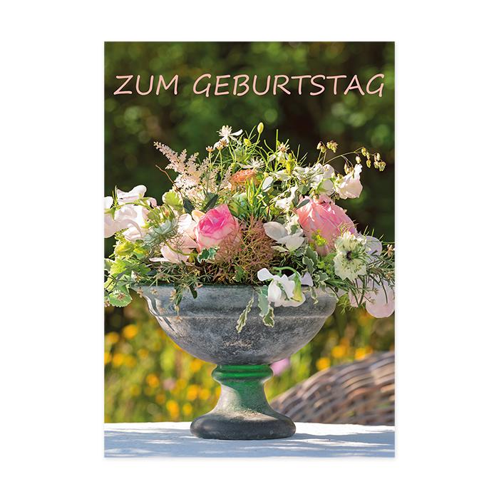 art bula Geburtstagskarte - Blumengesteck