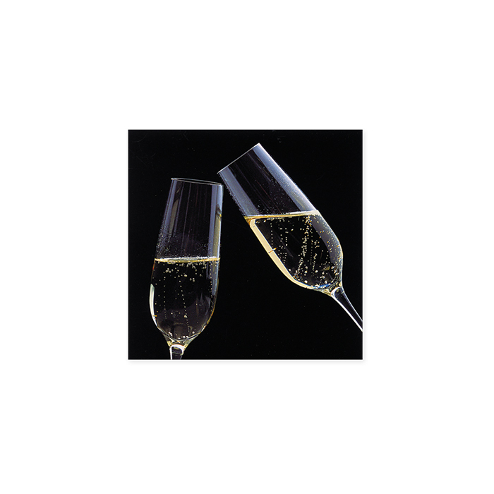 art bula Jubiläumskarte - Champagnergläser
