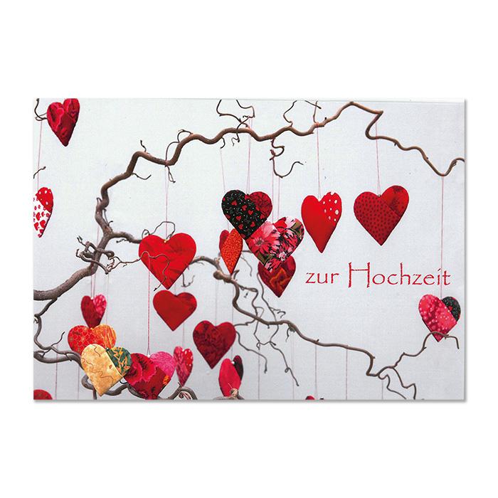 art bula Wedding Cards – Red Hearts