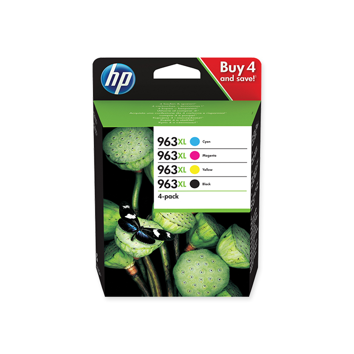 HP Inkjet cartridge No. 963 Combopack, 2'000 / 1'600 pages