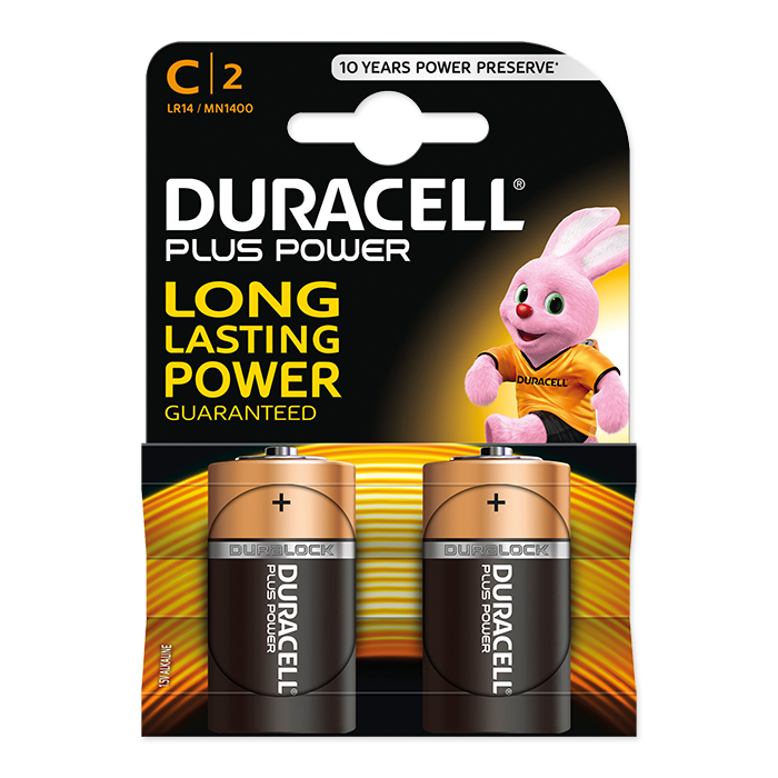 Duracell C Plus Power 1,5 Volt, 2 pezzi