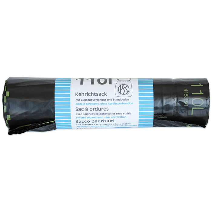Webstar Garbage bags Quickbag 110 litres, 10 bags per roll