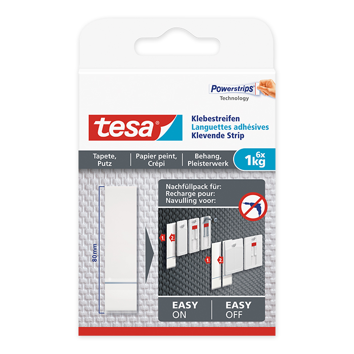 tesa Adhesive Strip wallpaper & plaster 1 kg