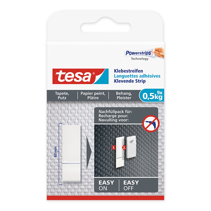 tesa Adhesive Strip wallpaper & plaster 0,5 kg