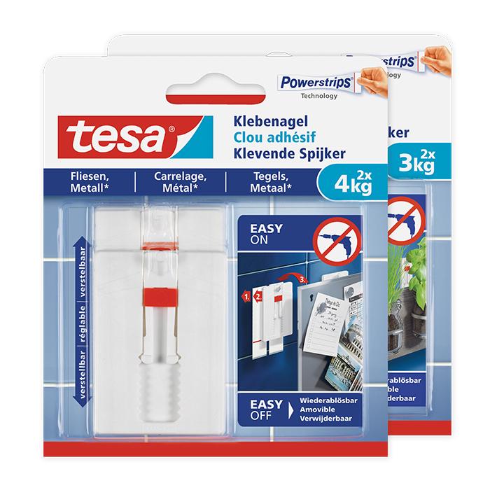 tesa Adjustable Adhesive Hook tiles & metal