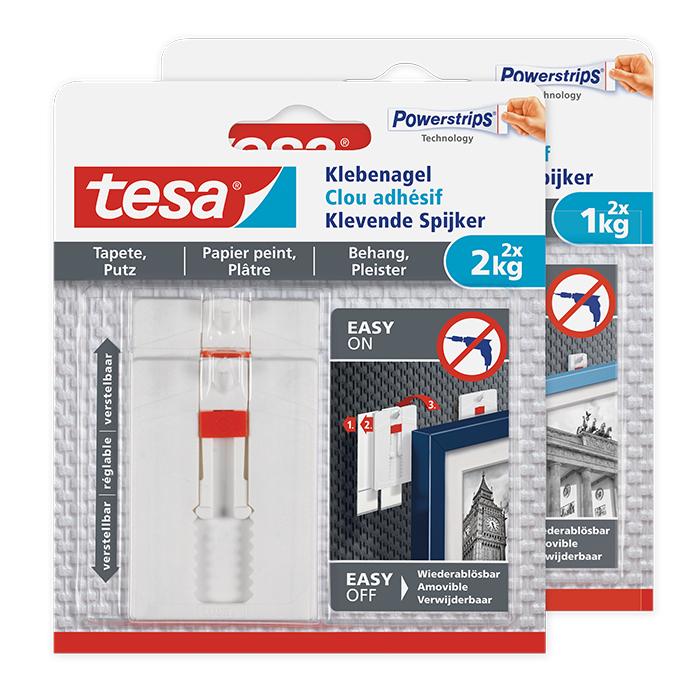 tesa Adjustable Adhesive Hook wallpaper & plaster