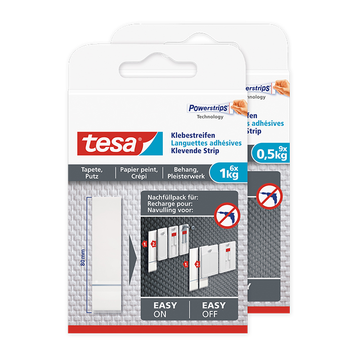 tesa Languettes adhésives pour papier peint & plâtre