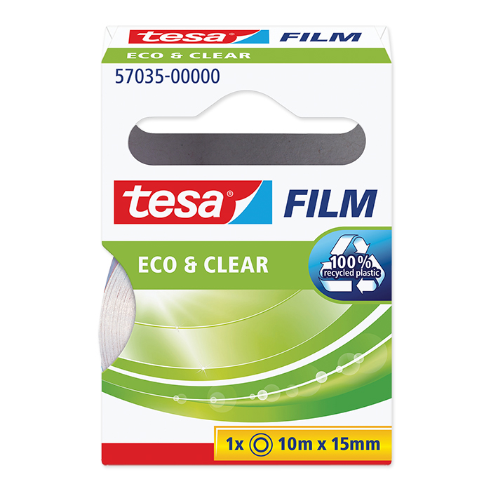 tesa Film Eco /& Clear transparent 15 mm x 10 m