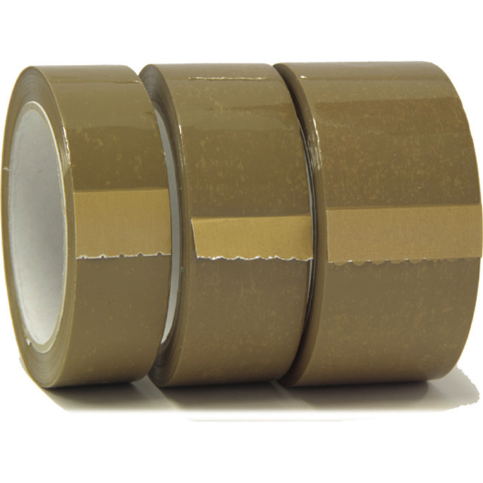 Permafix Packaging tape brown, 25 mm x 66 m