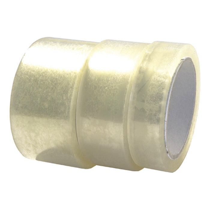 Permafix Packaging tape transparent, 25 mm x 66 m